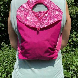 Coeurs_Encre blanche_rose moyen Bagasak_rachel_backpack